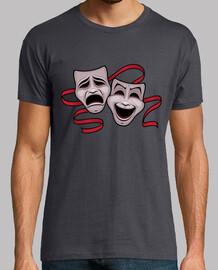 comédie et la tragédie des masques de théâtre