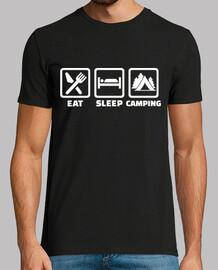 comer dormir acampando