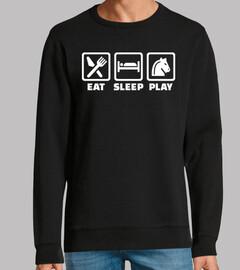 comer dormir ajedrez
