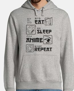 comer dormir anime repetir