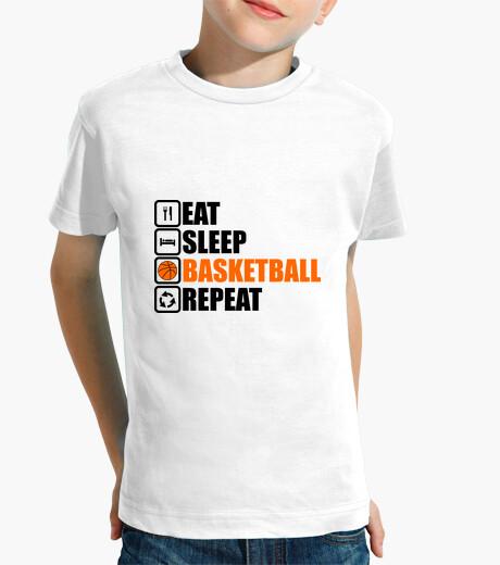 Ropa infantil comer dormir baloncesto repetición