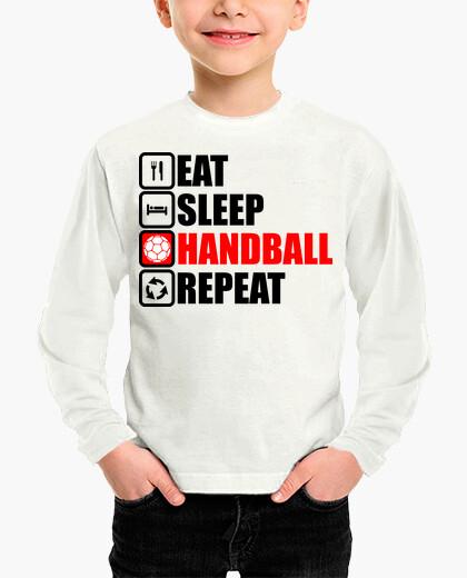 Ropa infantil comer dormir balonmano repetir