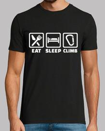 comer dormir escalando
