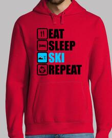 comer dormir esquí repetir