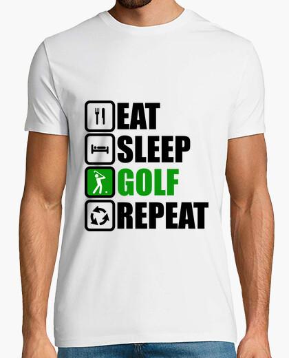 Camiseta comer dormir golf repetir