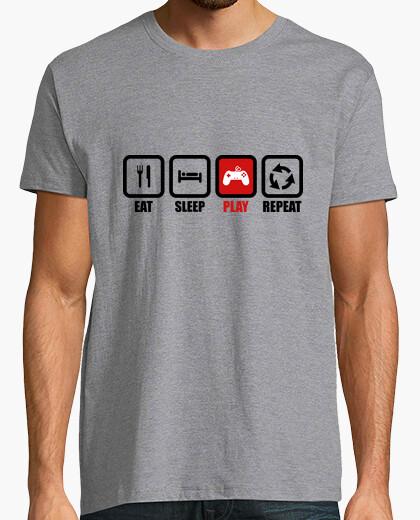Camiseta comer dormir jugar repita