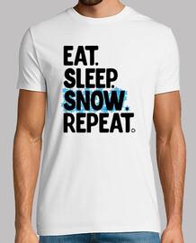 comer dormir nieve