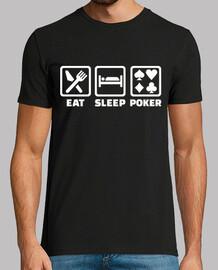 comer dormir poker
