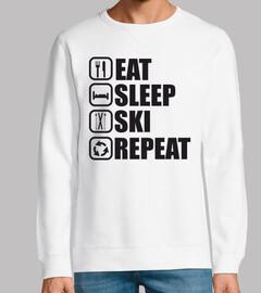 comer dormir repetir esqui