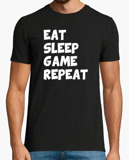 Camiseta comer dormir repetir juego