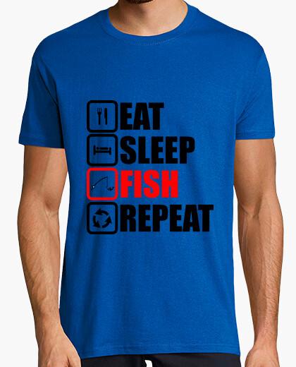 Camiseta comer dormir repetir peces