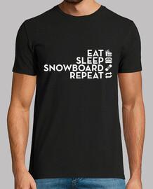 comer dormir snowboard repetir blanco