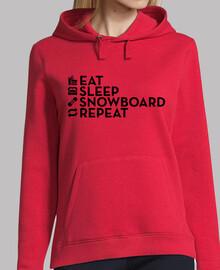 comer dormir snowboard repetir negro