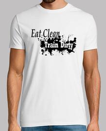 comer tren sucio limpio