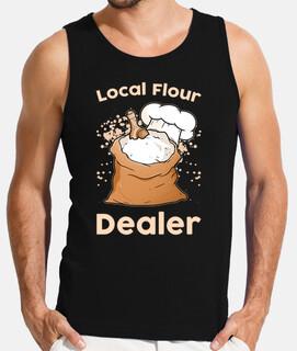 comerciante de harina local