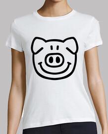 Comic pig face