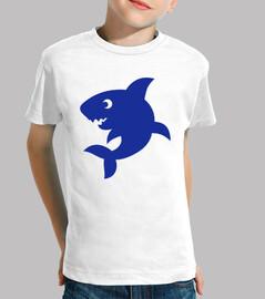 cómica de tiburón azul