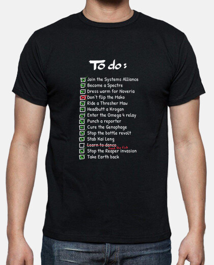 commandants to-do liste  tee shirt  hommes