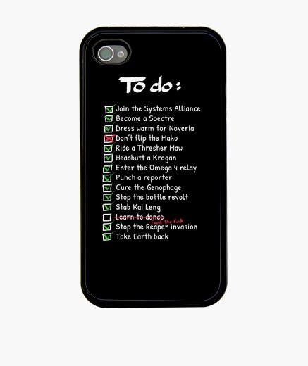 Coque iPhone commandants to-do liste de cas de téléphone