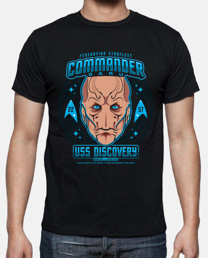 commander saru mens tshirt