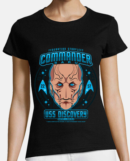 commander saru womens t-shirt