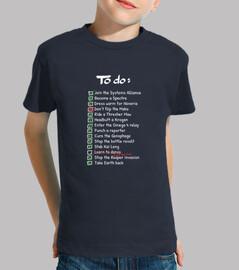 Commanders To-Do List kid shirt