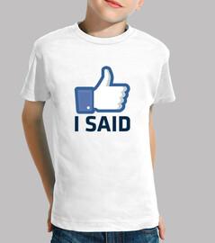 comme je l'ai dit, facebook aime