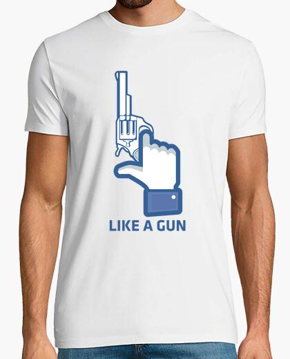 Tee-shirt comme un pistolet, facebook aime
