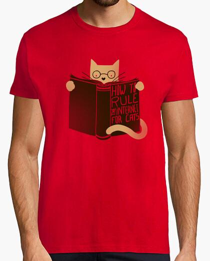 Camiseta cómo gobernar los gatos de internet