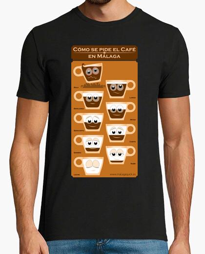 Camiseta Cómo se pide el café en Málaga