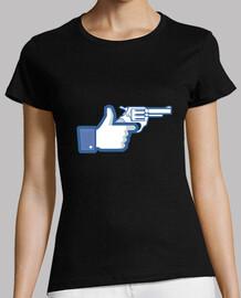como una pistola, facebook como
