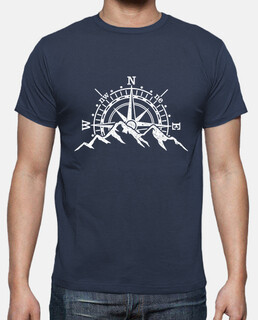 compass and mountains wind rose