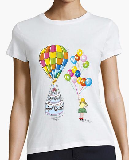 Camiseta compleanno con torta per bambina