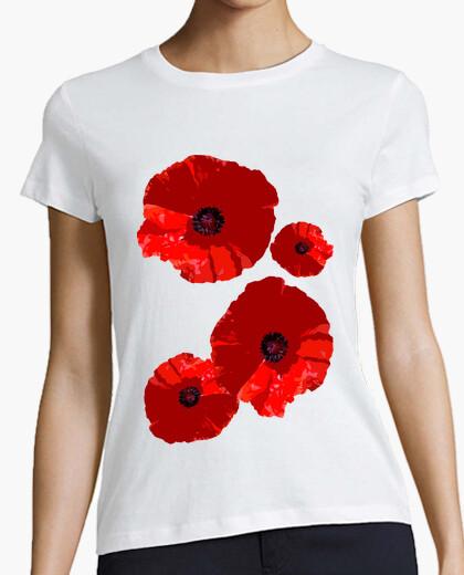 Camiseta Composición Floral Amapolas