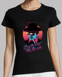 ¡comprar el boleto, tomar el paseo! camisa para mujer