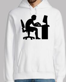 computadora de escritorio de oficina
