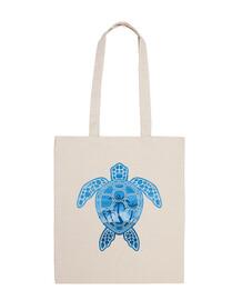conception de tortue de mer île tropicale en bleu