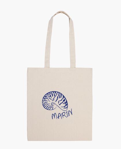 Bolsa conchiglia nautilus blu moda mare