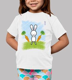Conejito y zanahorias