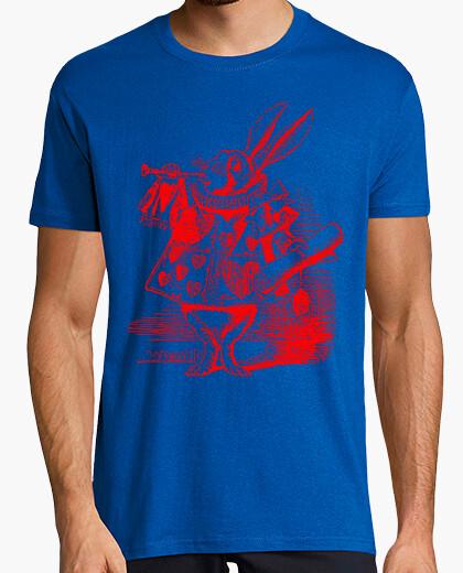 Camiseta Conejo de Alicia (Rojo)