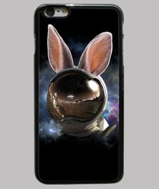 Conejo espacial Funda iPhone 6 Plus, negra