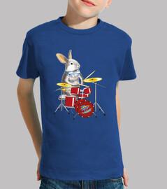 conejo y tambor