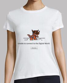 conexión mundo digital perdido - mujer camiseta