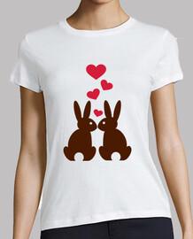 coniglietti cuori l'amore