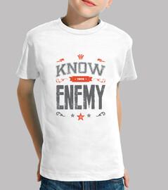 conocer a tu enemigo camiseta infantil