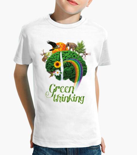 Vêtements enfant conscience verte - pensée verte
