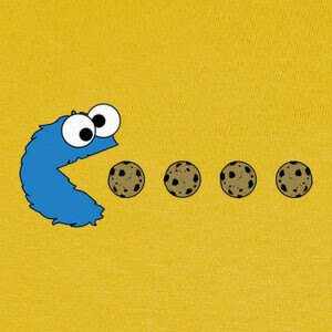 Camisetas Cookie Monster Pacman