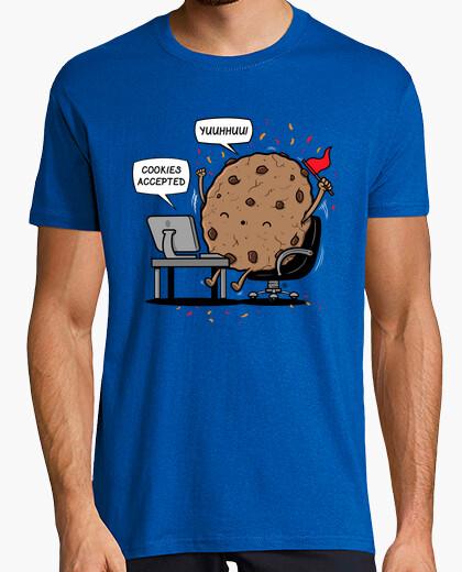 Tee-shirt cookies acceptés