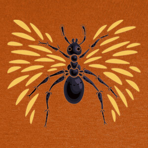 Cool Abstract Winged Ant T-shirts