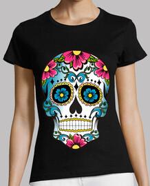 Cooltee Floral sugar skull. La tostadora